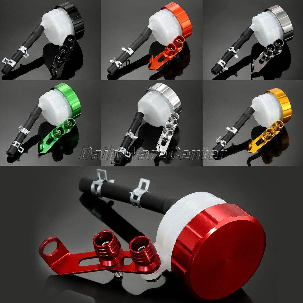 Universal Motorcycle CNC Oil Cylinders Reservoir Front Brake Clutch Tank Fluid Cup for Aprilia Honda Kawasaki Suzuki Yamaha KTM