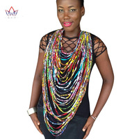 2017 BintaRealWax African Print Multistrand Necklace African Wax Jewelry Ankara Rope Necklace Traditional Africa Clothing WYB226