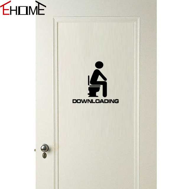 EHOME Waterproofing Stickers For Bathroom Door Decoration Funny Wall Stickers Toilet Vinyl Adhesive Murals