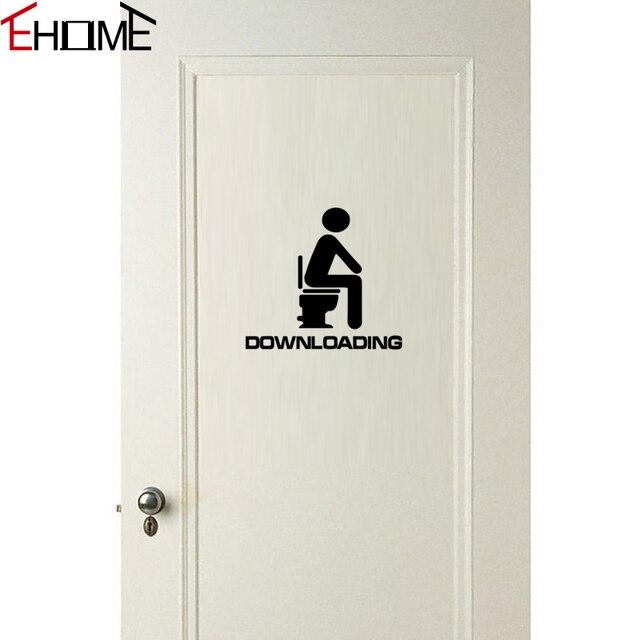 Waterproofing Stickers For Bathroom Door Decoration Funny Wall Stickers Toilet Vinyl Adhesive Murals