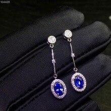 Ok Các đơn giản nhất phong cách, 925 bạc tanzanite tự nhiên stud bông tai, tinh tế cổ điển, giá cả phải chăng