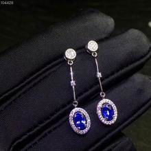 ok  The simplest style, 925 silver natural tanzanite stud earrings, exquisite classic, affordable