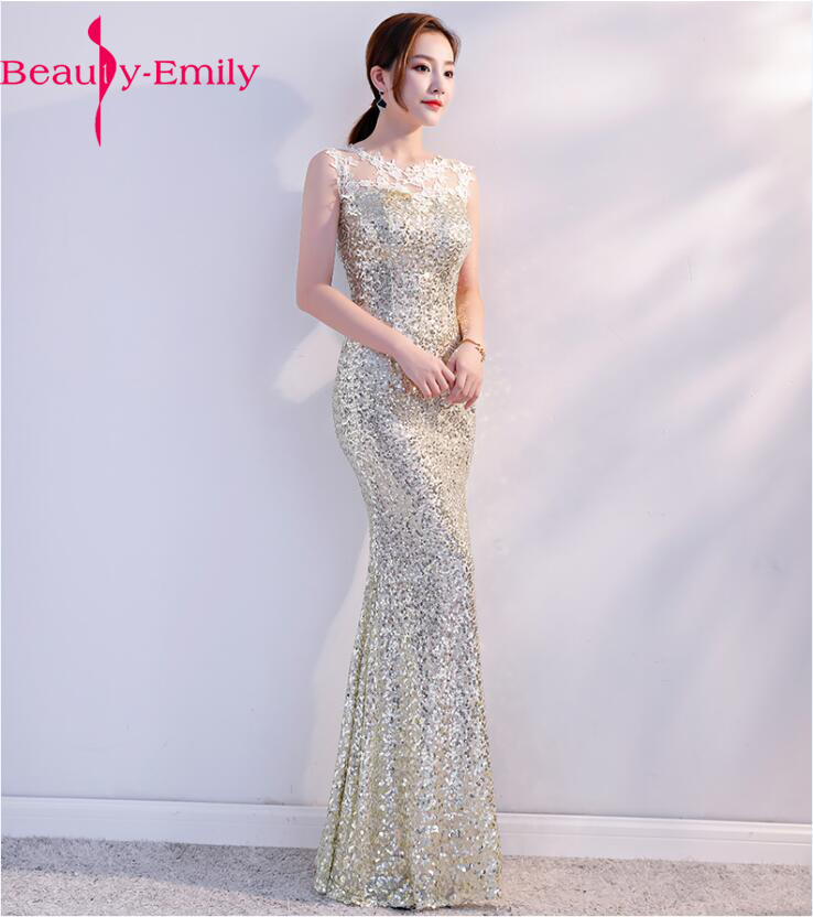 Sequins Beading Evening Dresses Mermaid Long Formal floral Prom gown Dress 2018 New Style glory evening dress vestido de festa