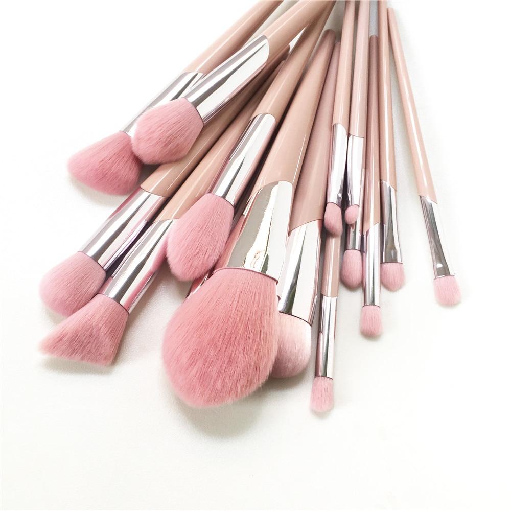 Image 4 - Набор из 15 кистей для макияжа, набор 110 кистей для нанесения  основы, 120 кистей, для растушевки теней, 210 для растушевки розовых  волосАппликатор теней для век