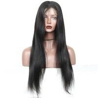 シルクベースかつら事前摘み取らフルレース人間の髪かつらで赤ちゃんの髪のため女性ブラジルバージン毛ストレート130%密度キャ