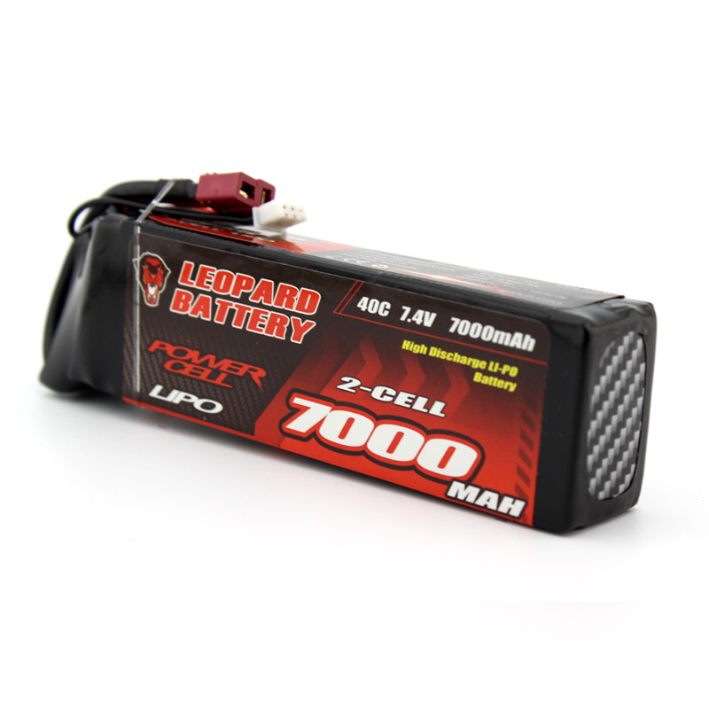 High Quality LEOPARD Power 7.4V 6000mAh 40C 2S T Plug Rechargeable Lipo Battery for 1:8 1:10 RC Car Boat Spare Parts mos rc airplane lipo battery 3s 11 1v 5200mah 40c for quadrotor rc boat rc car