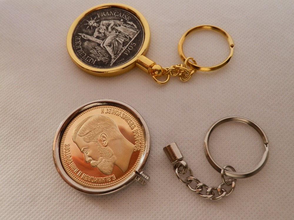 """Coin Holder Necklace Kit Nickel USA 5 Cent Silver 20/"""" Chain with Bezel"""