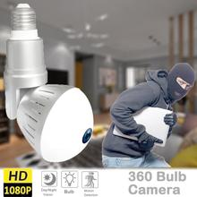 360 degree Video Camera WIFI Wireless 1.3MP 960P Full HD Digital FishEye Remote Control Bulb Light Smart Cameras
