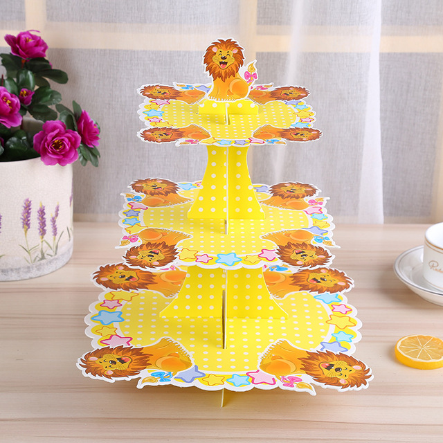 3 Tire The Lion King Jungle Theme Cupcake Stand Birthday Party