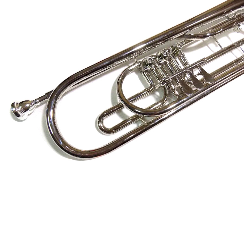 Купить с кэшбэком Bb Bass Trumpet brass instruments Nickel Plated with Case Mouthpiece Trumpet musical instruments trompeta