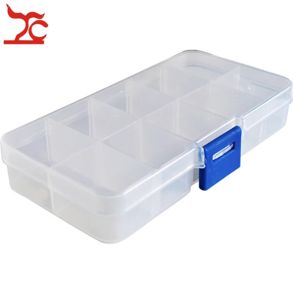 10 Grid Jewelry Display Organizer Storage Box Plastic Jewelry Beads Storage  Display Case Portable Gift Box