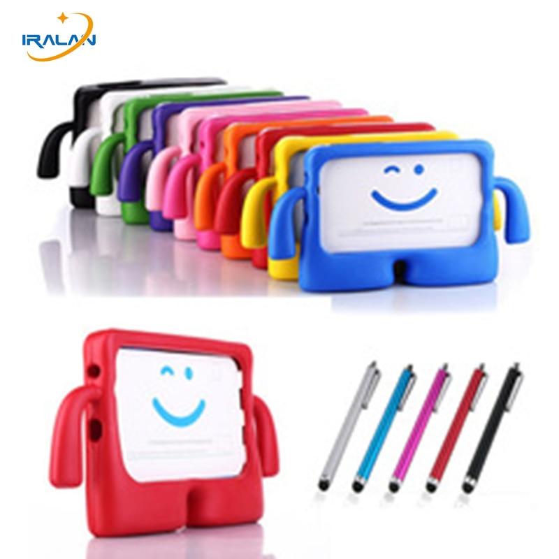 New hot Enfants pour Samsung Tab 3 4 Lite 3 T115 7.0 pouce Tablet Couverture pour Tab 3 T2105 T230NU T235 3D Enfants EVA Étui En Silicone + stylo