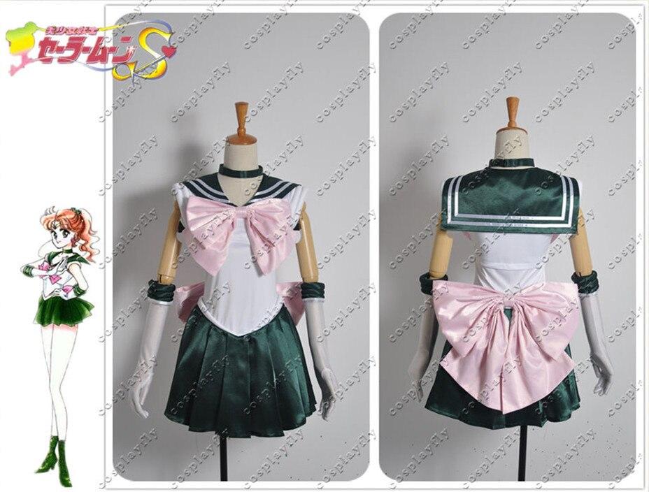 Sailor Moon Sailor Jupiter Makoto Kino Cosplay Costume Custom Made Any Size Dark Green Girl Skirt
