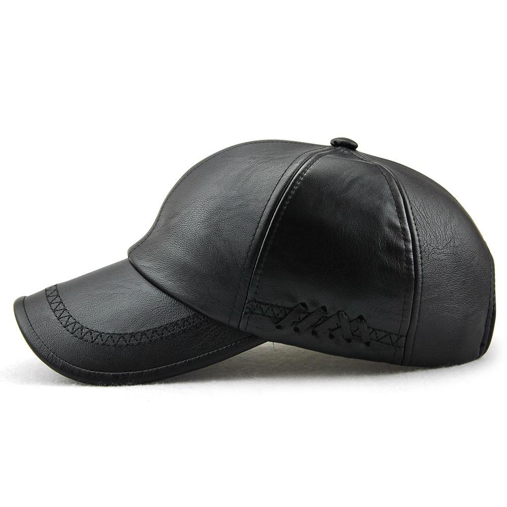 Xthree New fashion kualitas tinggi jatuh musim dingin pria kulit topi - Aksesori pakaian - Foto 3