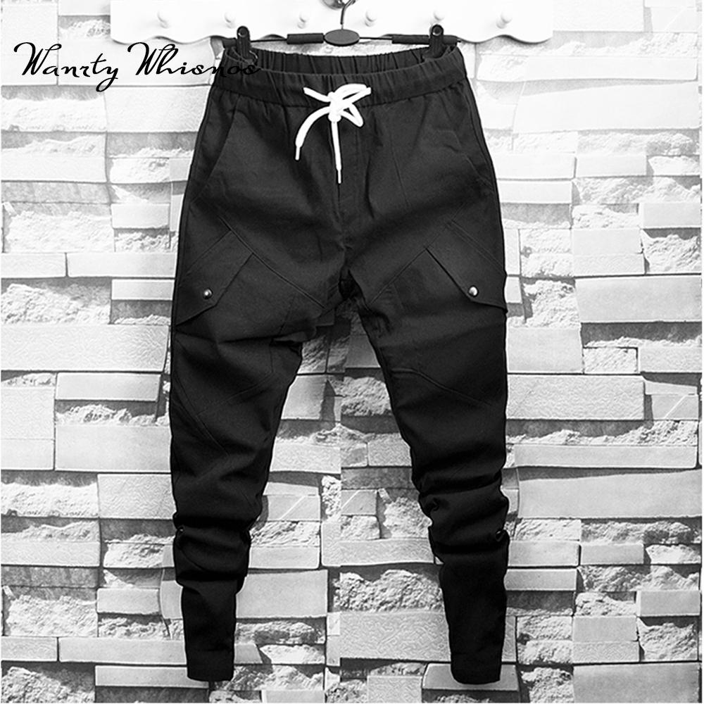 2019 Good Quality Summer Men Stretchy Trousers Jogger Sweatpants Harem Casual Pants Relaxed Fit Male
