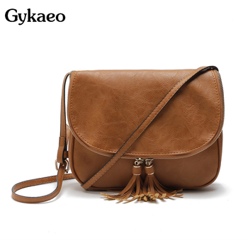 13fab56e6 Gykaeo bolsos de marca para mujer bolsos de mensajero de alta calidad bolsos  de cuero con borla bolso de hombro para mujer Bolsa femenina