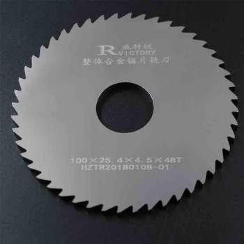 цена на 2pcs Circular Slitting Saw Blade 100mm Thick 0.7mm to 2mm Solide Carbide Milling Saw Blades CNC Lathe Metal Cutting Tool