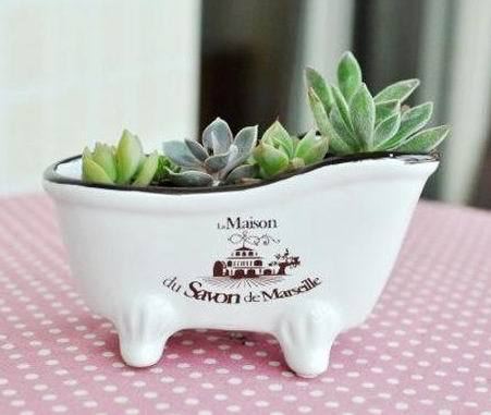 Table decoration japanese style retro finishing bathtub small ceramic flower pot fleshier plant flower форма для нарезки арбуза