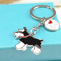 Hot Sale Schnauzer Gog keychains DIY Pet Metal Keychain Wholesale Gift woman keychain keys Dogs Fashion Jewelry Bag Charm