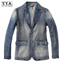 Spring New Arrival Mens 100 Cotton Jean Jackets Italy Design High Quality Man Washed Denim Blazers