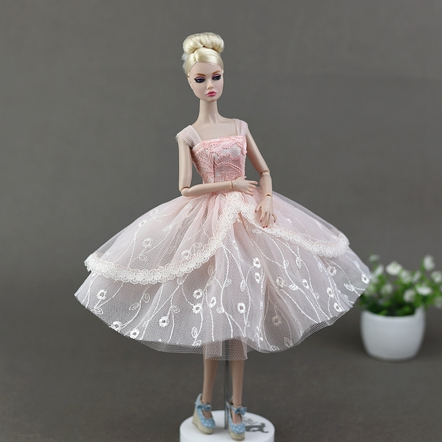 bee08bdd35aaf US $4.74 5% OFF|2017 New Handmade Pink Bubble Skirt Party Gown Wedding  Dress Clothing Outfit Accessories For 1/6 Barbie Xinyi FR Blythe Doll-in  Dolls ...