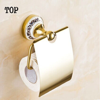 Paper towel holder toilet paper holder roll box fashion antique gold tissue box of bathroom toilet paper box  the paper carton wall plastic roll plastic creative paper towel box paper market box carton
