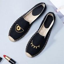 96600ea2a Sapatos de pano das Mulheres casuais Primavera verão de palha novo estilo  Nacional do bordado todo o jogo senhoras sapatos de lo.
