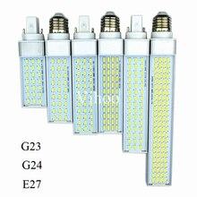 Lampada G23 G24 E27 수평 플러그 램프 8 W 10 W 12 W 15 W 18 W 30 W 85 265 V AluminumLED PL 옥수수 전구 180 학위 스포트 라이트 조명