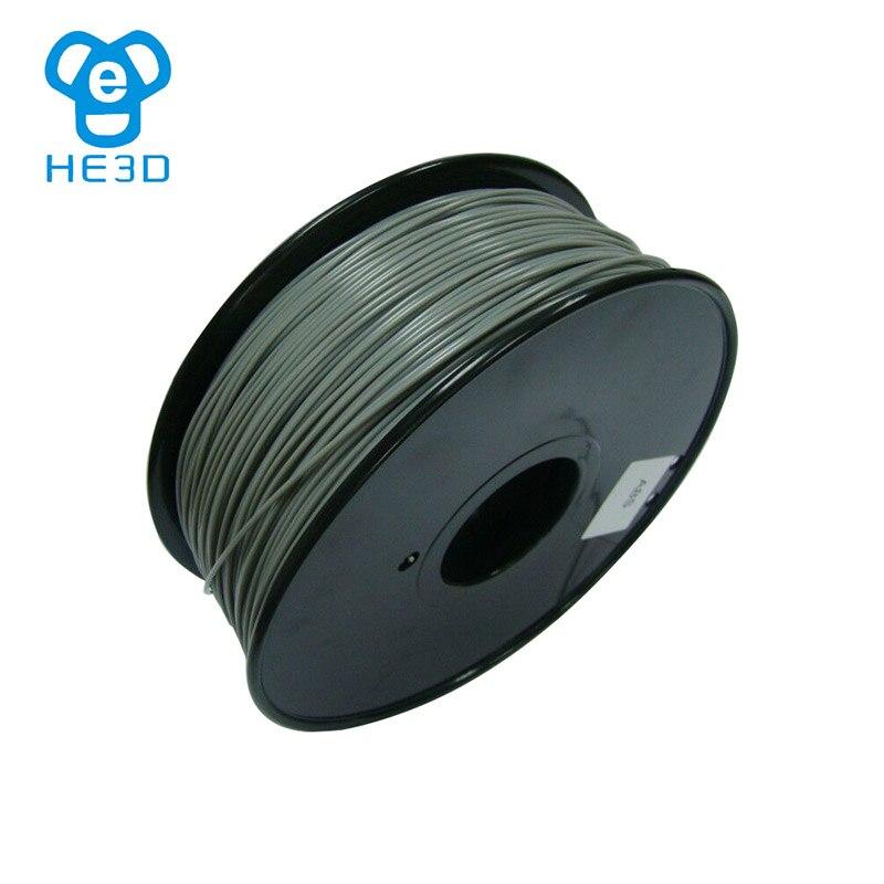 HE3D 12color MakerBot/RepRap/UP/Mendel 3D printer Filament ABS 1kg/2.2lb plastic Rubber Consumables Material