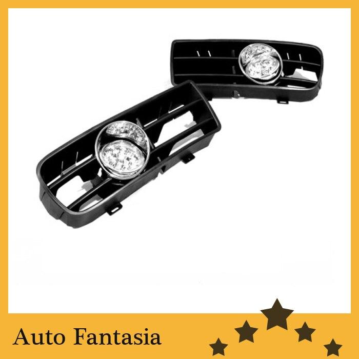 Front Fog Light Kit for VW Volkswagen Golf MK4 bumper grille front fog light kit with led surround for vw golf mk4