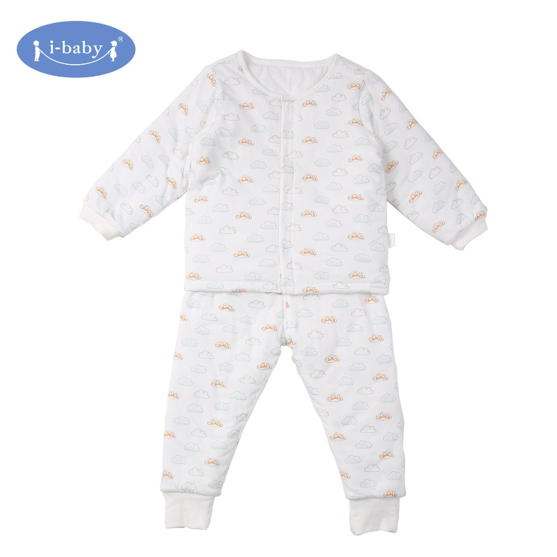 i-baby Baby Clothes Set Autumn 100% PIMA Cotton Rompers Baby Boy Girl Clothes Infant Bodysuit Pants Jersey Cloud Newborn Ropa