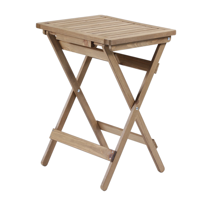Natural Wood Outdoor Folding Table Garden Furniture Rectangle Foldable Portable For Indoor Camping Wooden
