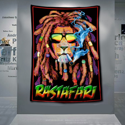 3/' x 2/' Bob Marley Banner One Love Hanging Flag Jamaica Rastafarian Rasta Banner
