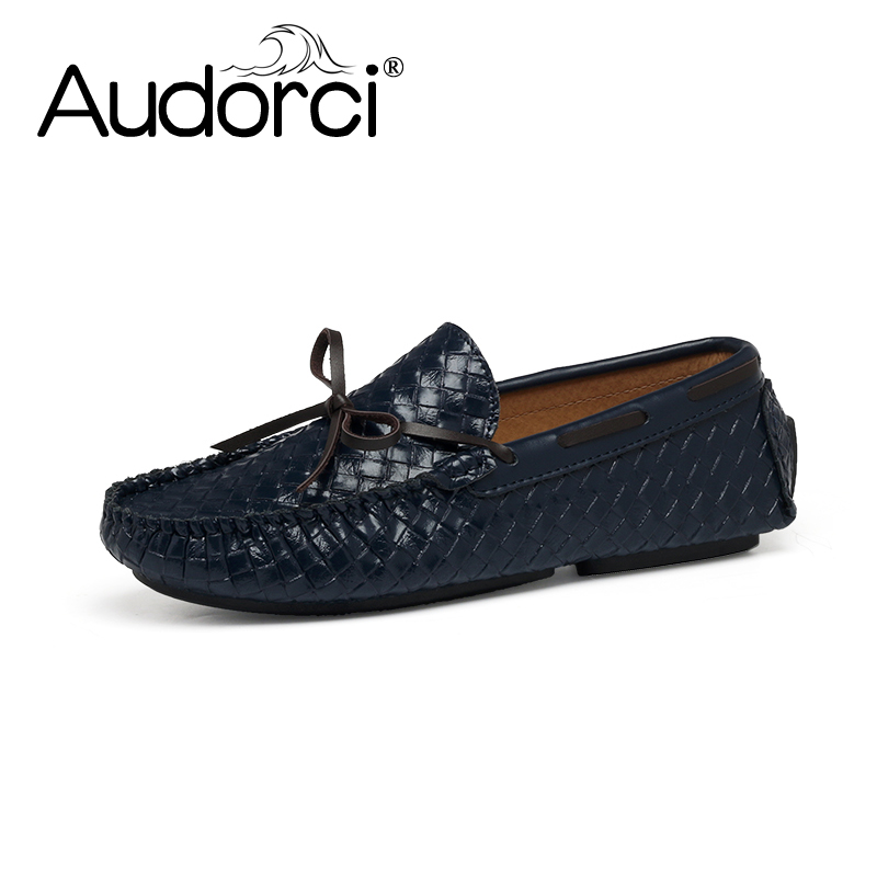 Audorci Brand Mens Casual Shoes Fashion Peas Shoes Suede Leather Men Loafers Moccasins Slip On Men's Flats Male Driving Shoes npezkgc new arrival casual mens shoes suede leather men loafers moccasins fashion low slip on men flats shoes oxfords shoes