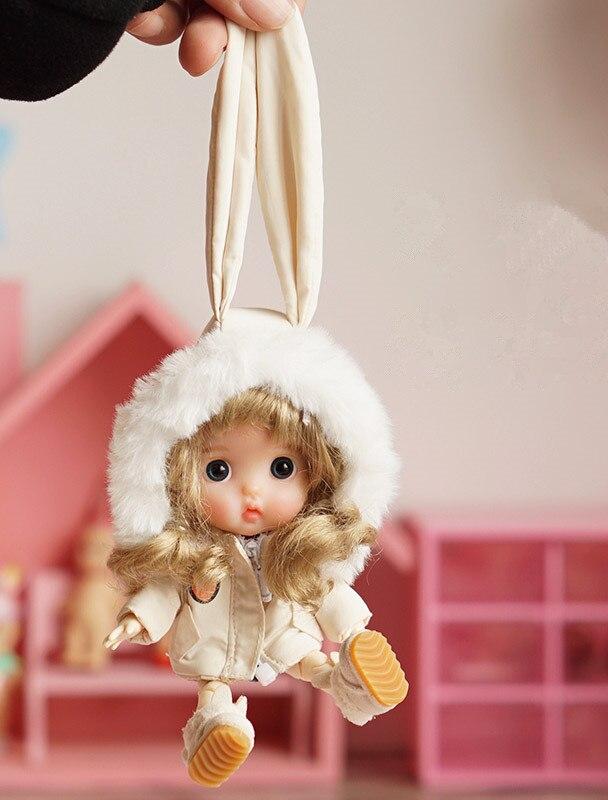 New [1/12Doll Cotton Coat] OB11 Coat With Hat  Obitsu11 Clothes (Fit Ob11,obitsu11,BJD12,cu-poche)10