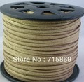 Free Shipping  3*1.5mm Light Gold 10 Yard (9 Meters )  Faux Suede Leather Cord DIY Jewellery Making For Necelace and Bracelet