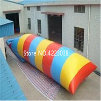 Free Shipping 6*3m PVC Water Blob Jump Inflatable Water Catapault For Amusement Sports Play With Electric Air Pump