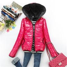 Осень и зима модные женские пальто с капюшоном тепловой хлопка-ватник 4 цвета верхняя одежда ватные куртки