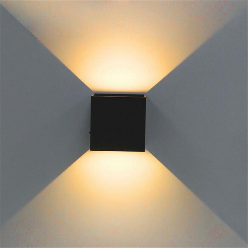Led Wall Light Ip65: 10 Pcs DHL Free 8W COB LED Wall Lamps Waterproof IP65 Warm
