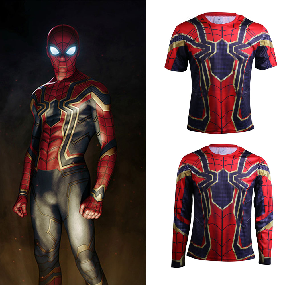Miele 2018 Avengers 3 Cosplay T Shirt Infinity War Ferro Spider Man Superhero Mens Stampa Polyeste O-collo Top Adulto Fantasy Costume