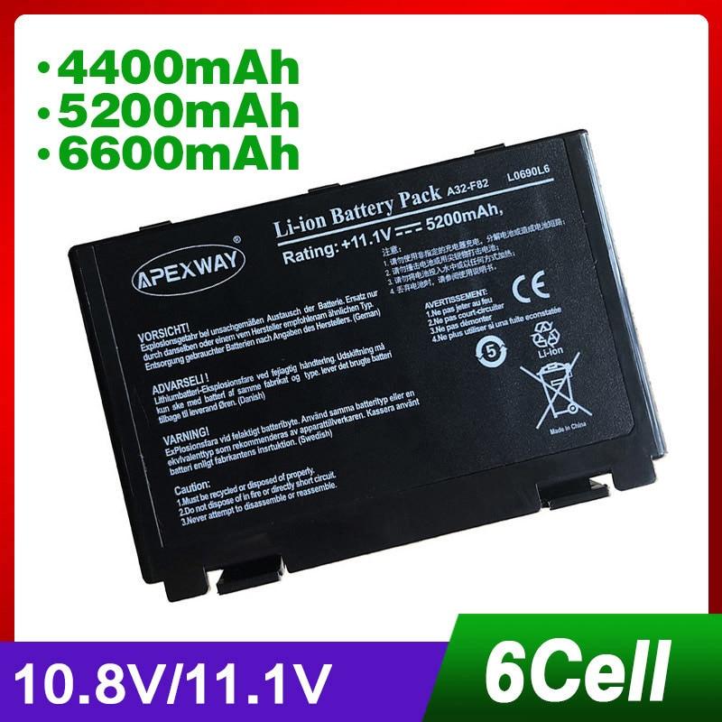 11.1v 아수스 A32-F82 용 노트북 배터리 A32-F52 A32 F82 X8B - 노트북 액세서리