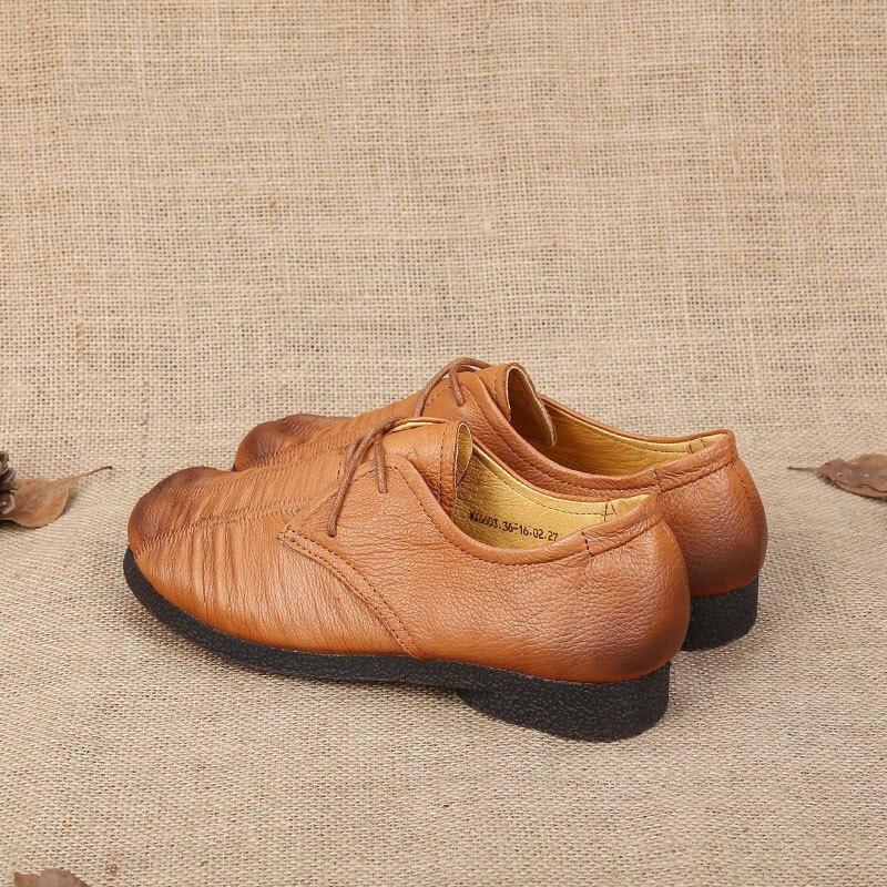 Véritable Sapatilhas Pour Cuir Plissée Marron Chaussures Appartements Mocassins Ballet up En Femmes Femininos Mvvjke Dentelle Dames qpIaP