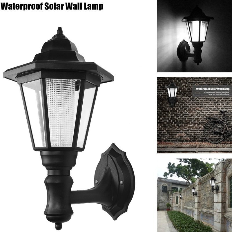 Konesky Outdoor LED Solar Power Light Energy Saving Super Bright Yard Garden Decoration Path Street Security Wall Hanging Lamp 2w 6v multicolor bright solar powered led yard lamp light sensor outdoor lawn street light waterproof energy saving yl004 1a