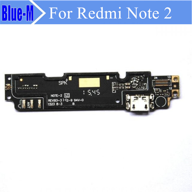 10pieces Dock Connector Micro USB Charging Port Flex Cable Ribbon Module + Mic Replacement Parts For xiaomi redmi Note 2 Note2