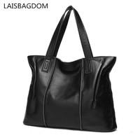 Famous Brands Genuine Women Leather Handbags Shoulder Bag Messenger Tote Solid Color Shoulder Bag Women Messenger