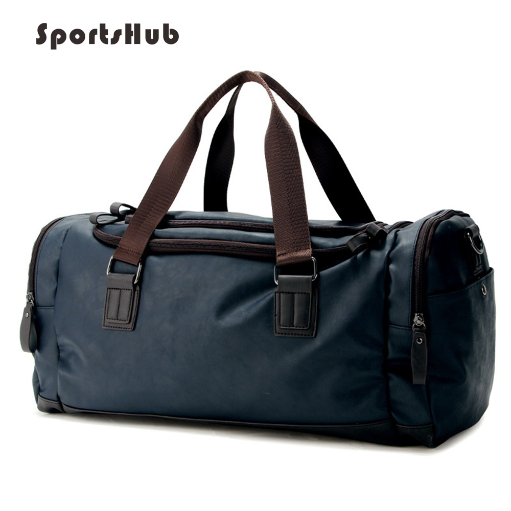 SPORTSHUB Top PU Leather Men s Sports Bags Gym Bags Classic Sports HandBag Fitness Travel Bags