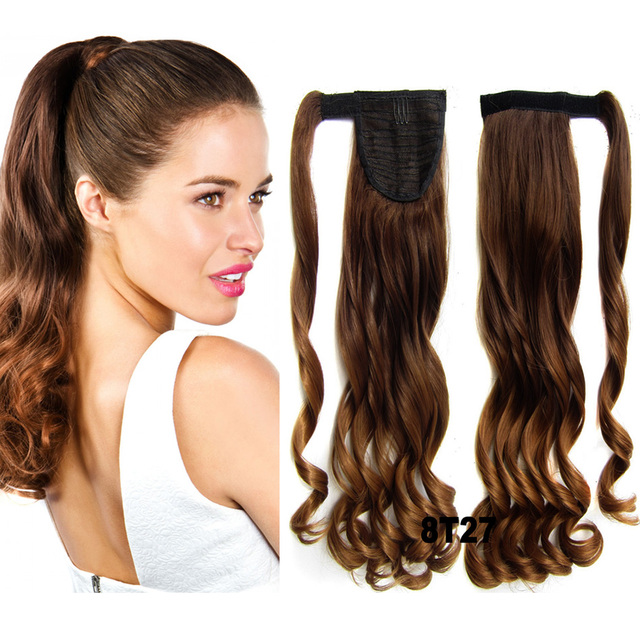22 Inches Ponytail Hairpieces Braid Curly Synthetic Hair Ponytail
