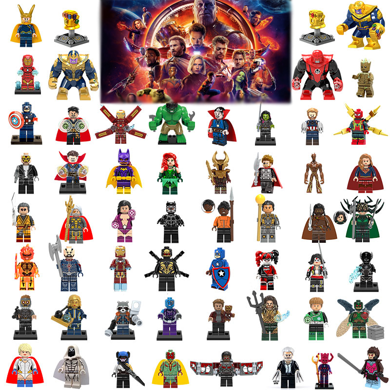 Marvel Super Hero Infinity War Avengers Wonder Woman Guardians Of The Galaxy Batman X Man Flash Building Blocks Toy Figure