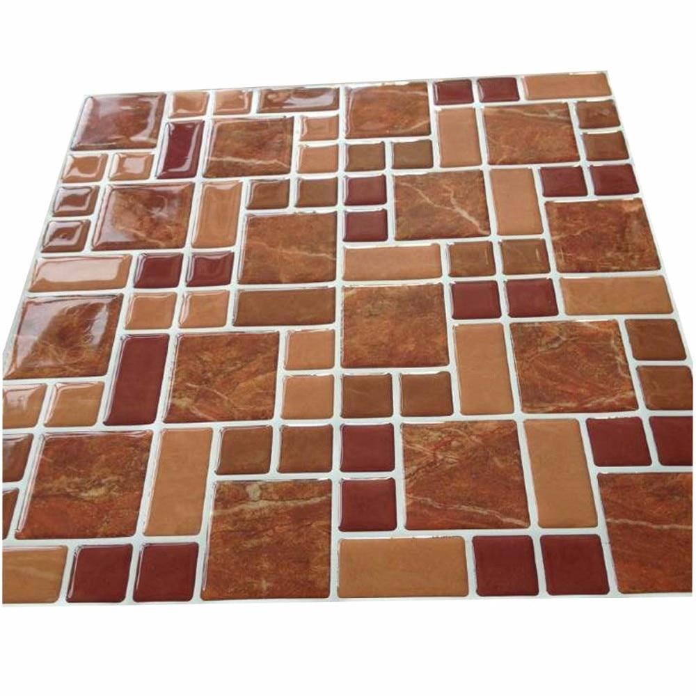 wall stick backsplash kitchen bathroom wall tiles art sticker wall decor cheap discount mosaic tile