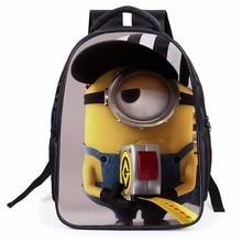 Новинка 2016 года модная детская одежда мультфильм сумки ребенок рюкзак с миньонами школьный Mochila Рюкзак Дети качества школьная сумка